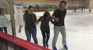 SkyPlanner members ice skating