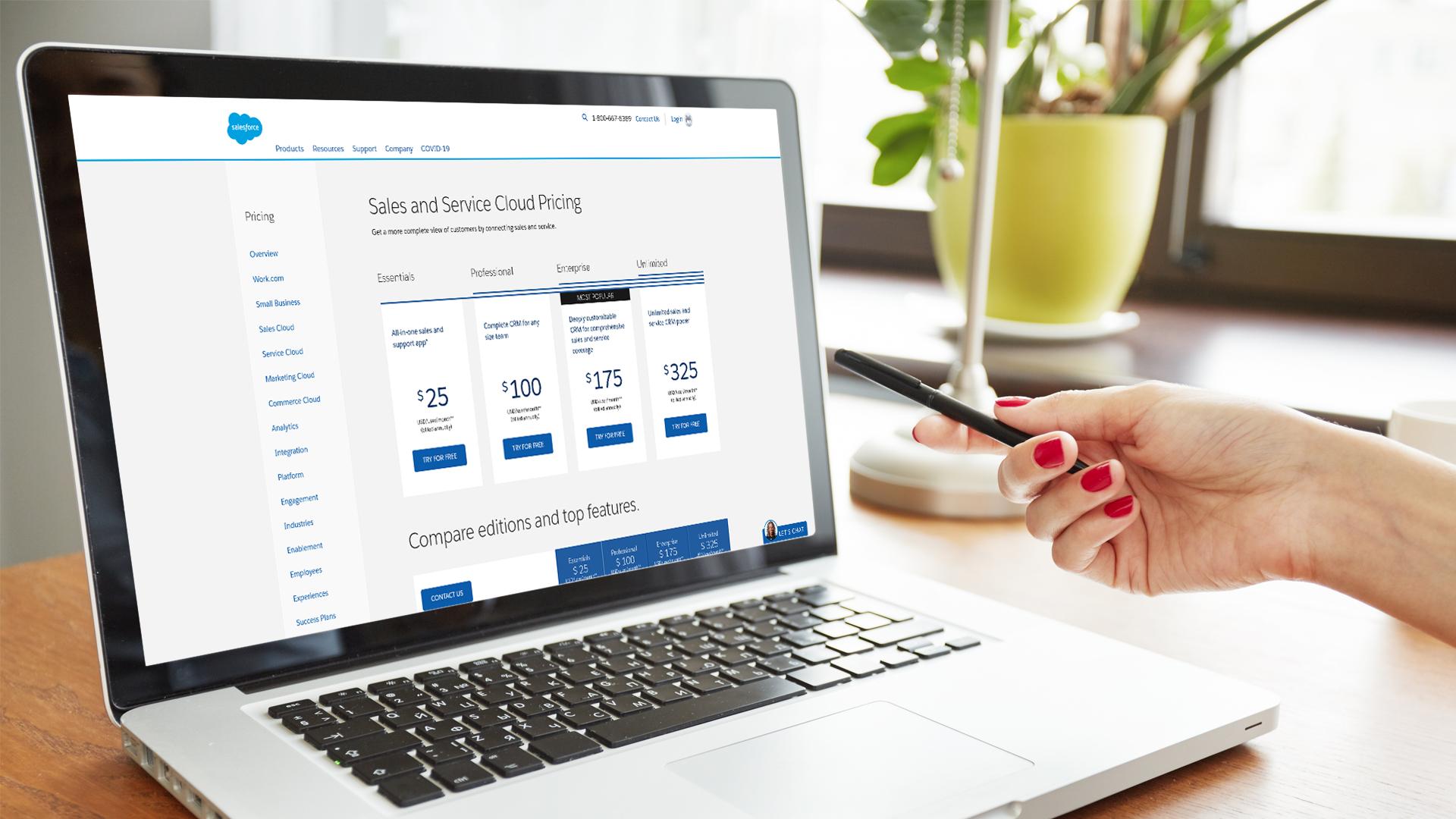 Salesforce Editions - Header