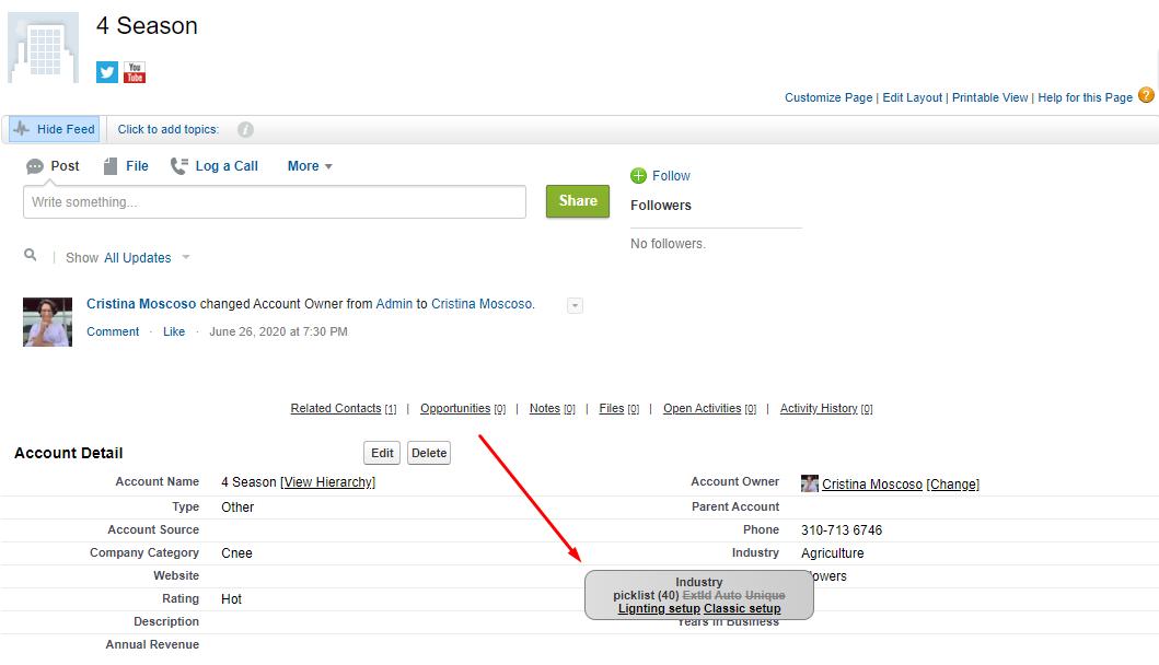 Salesforce Inspector Field Metadata
