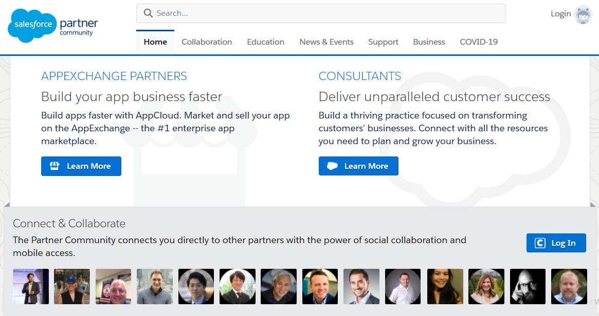 Salesforce Partner Community - Interface