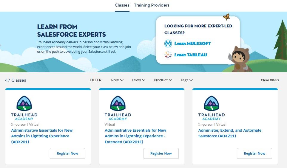 Trailhead Academy - Interface