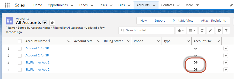 Salesforce Troubleshooting - All Accounts