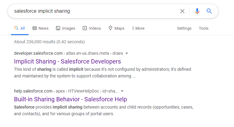 Salesforce Troubleshooting - Implicit Sharing