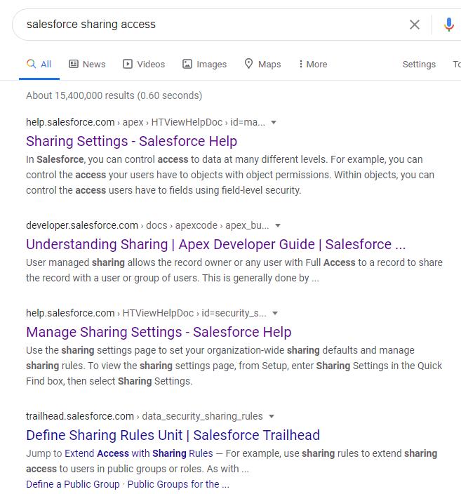 Salesforce Troubleshooting - Understanding Sharing