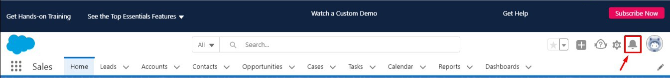Notifications in Salesforce